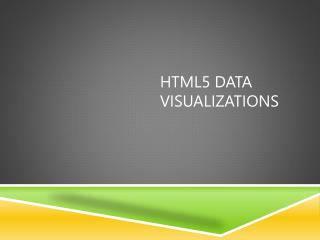 HTML5 data visualizations