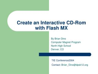 Create an Interactive CD-Rom with Flash MX