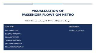 Visualization of  Passenger  Flows on Metro