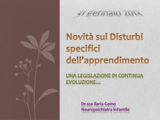 Novit� sui Disturbi specifici dell�apprendimento