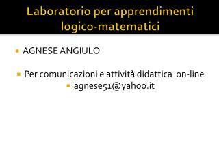 Laboratorio per apprendimenti logico-matematici