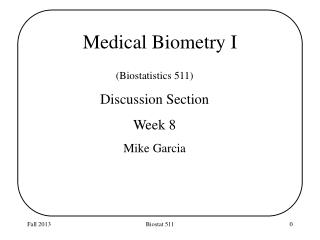 Medical  Biometry I
