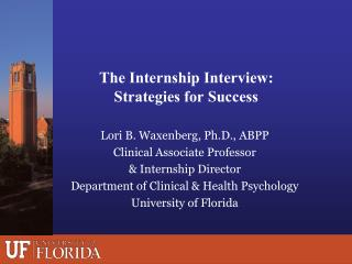 The Internship Interview: Strategies for Success
