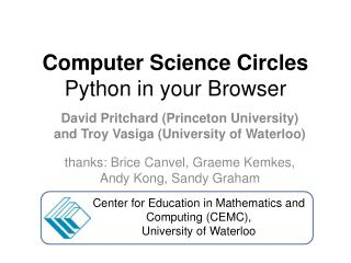 Computer Science Circles Python in your Browser