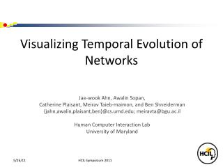 Visualizing Temporal Evolution of Networks