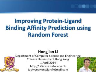 Improving Protein-Ligand Binding Affinity Prediction using Random Forest