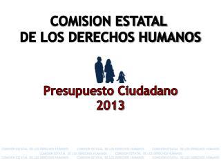 Presupuesto Ciudadano 2013