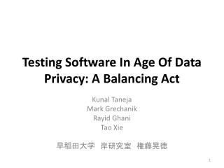 Testing Software In Age Of Data Privacy: A Balancing Act