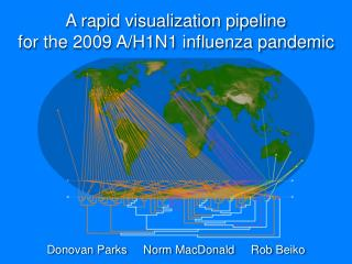 A rapid visualization pipeline  for the 2009 A/H1N1 influenza pandemic