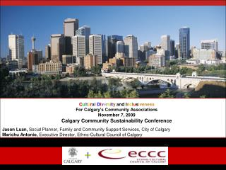 Jason Luan,  Soci a l Planner, Family and Community Support Services, City of Calgary