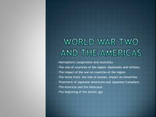 World war two and the Americas