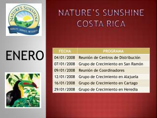 NATURE S SUNSHINE  COSTA RICA