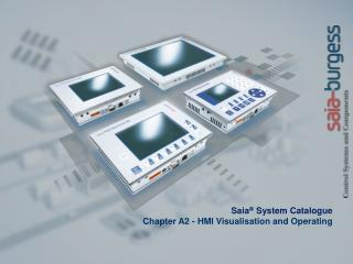 Saia ®  System Catalogue Chapter A2 -  HMI Visualisation and Operating
