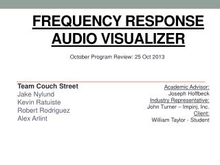 Frequency Response Audio Visualizer