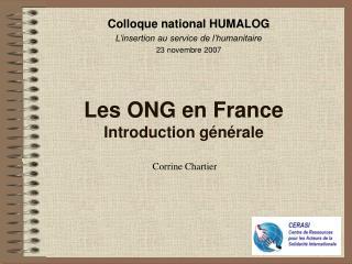 Les ONG en France Introduction g n rale