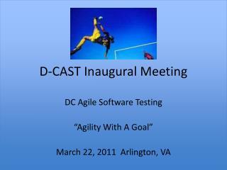 D-CAST Inaugural Meeting
