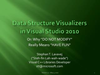 Data Structure Visualizers in Visual Studio 2010