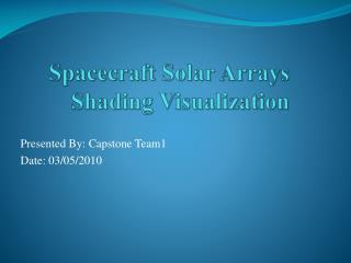 Spacecraft Solar Arrays Shading Visualization