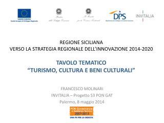 FRANCESCO MOLINARI INVITALIA – Progetto S3 PON GAT Palermo, 8 maggio 2014