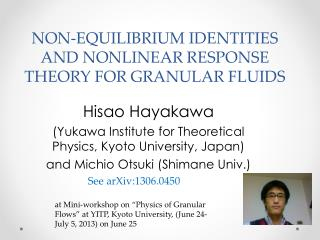 Non-equilibrium identities and nonlinear response theory for  Granular Fluids