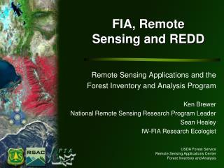 FIA, Remote Sensing and REDD