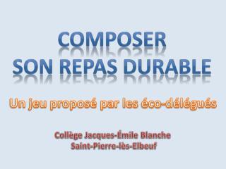 Collège Jacques-Émile Blanche  Saint-Pierre-lès-Elbeuf