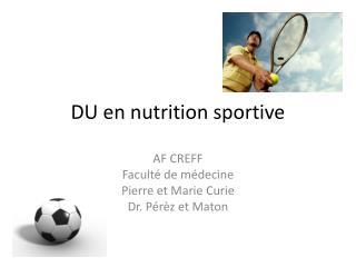 DU en nutrition sportive