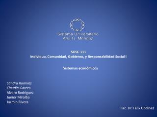 SOSC 111 Individuo, Comunidad, Gobierno, y Responsabilidad Social I