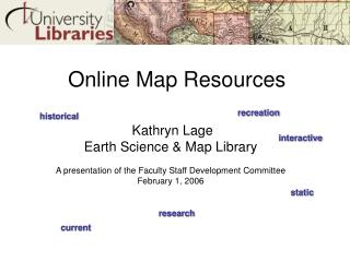 Online Map Resources