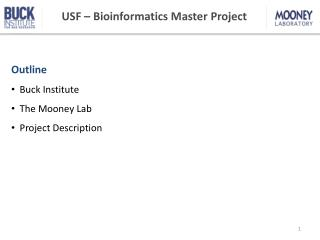 USF  – Bioinformatics Master Project