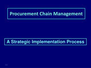 Procurement Chain Management