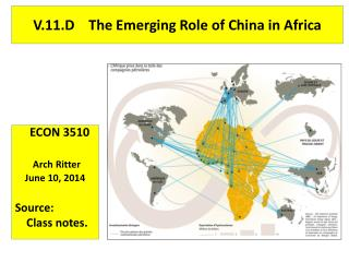 V.11.D    The Emerging Role of China in Africa