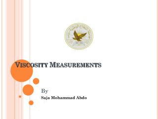 Viscosity Measurements