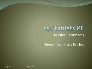 Les  tablets  PC