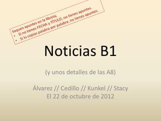 Noticias  B1