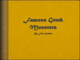 Famous Greek Monsters