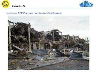 La norme ATEX a pour but d'éviter des drames