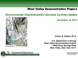 Environmental Characterization Services Contract Update  November 14, 2012