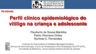 Flauberto de Sousa Marinho Pablo Vitoriano Cirino  Nurimar  C. Fernandes