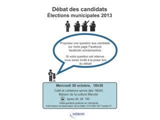 Débat électoral – élections municipales 2013
