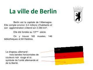 La ville de Berlin