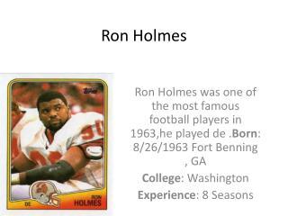 Ron Holmes