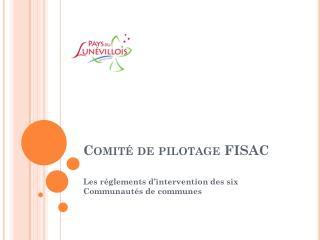 Comité de pilotage FISAC