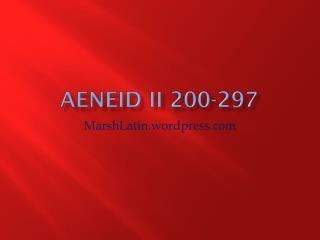 Aeneid  II 200-297