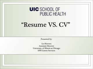 �Resume VS. CV�
