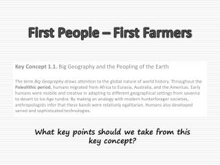 First People – First Farmers