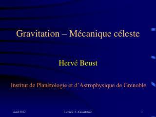 Gravitation – Mécanique céleste