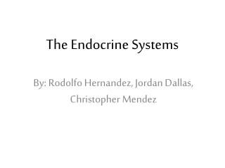 The Endocrine Systems