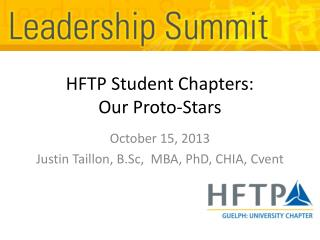 HFTP Student Chapters: Our Proto-Stars
