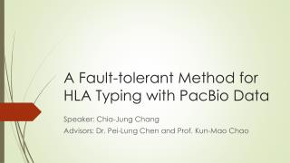 A Fault-tolerant Method for HLA Typing  with  PacBio Data